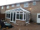 Conservatory under construction